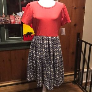 BNWT Lularoe Colorblock Amelia Dress